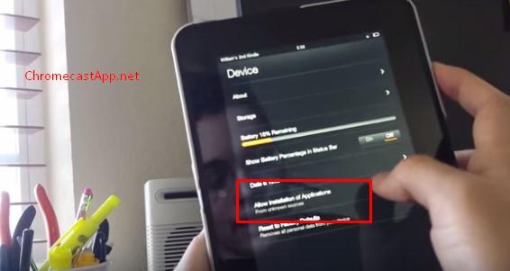 Chromecast App for Kindle